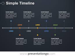 simple timeline powerpoint diagram presentationgo com