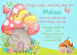kids birthday invitations card combine by mushroom house and