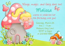 Kids Birthday Party Invitation Card Kids Birthday Invitations Card Combine By Mushroom House And