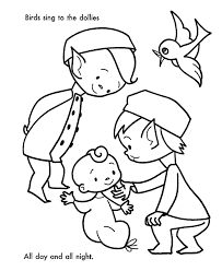 santa u0027s helpers coloring pages birds baby dolls