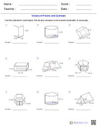 volume worksheet pdf geometry worksheets surface area volume