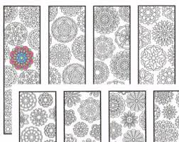 christmas coloring bookmarks winter mandalas coloring
