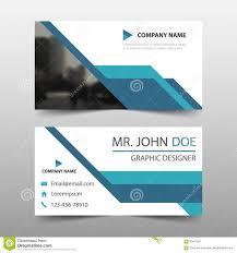 blue corporate business card name card template horizontal