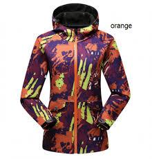 Camo Lined Fleece Windbreaker For Women Waterproof Windproof Ski