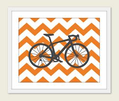 Cycling Home Decor Bike Chevron Nursery Wall Print Modern Home Decor By Aldariart