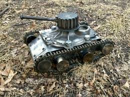 auto junkyard riverside ca volvo tank junk art tank made from old auto parts and some scrap