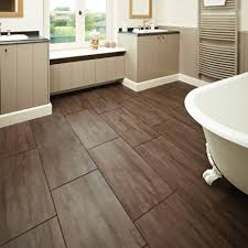 Gray And Brown Bathroom by Non Slip Bathroom Floor Tiles Carved Dark Brown High Gloss Finish