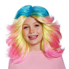 halloween city wigs trolls lady glitter sparkles child wig wig child and costumes