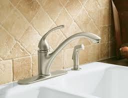 kohler revival kitchen faucet kohler revival kitchen sink faucet with vibrant brushed nickel