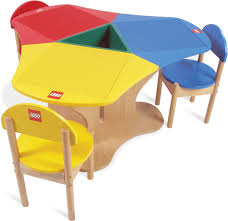 duplo table with chairs education three seat playtable solid hardwood 6099591