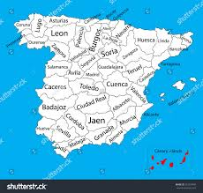 Canary Islands Map Canary Islands Map Spain Province Vector Stock Vector 327299492