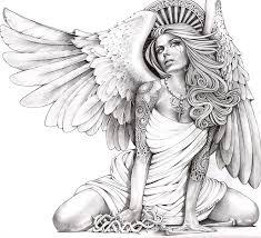 crying angel canvas giclee black market art company tattoo