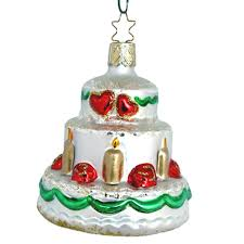 wedding cake ornament cake christmas ornament inge glas of germany