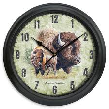 Buy Clock by Buy American Expedition 11 5in Diameter Clock Bison At Inspired