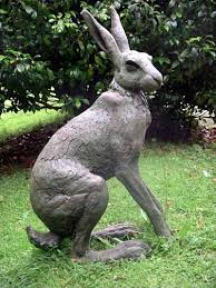 bronze resin rabbits and hares sculpture by sculptor