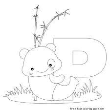 animal alphabet letters print color letter pandafree
