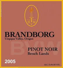 Vineyard Bench 2005 Brandborg Vineyard U0027bench Lands U0027 Pinot Noir Umpqua Valley