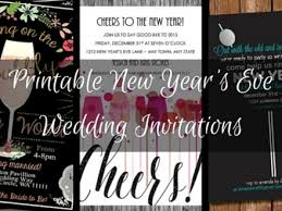 new years wedding invitations 46 printable new years invitations new year 039 s