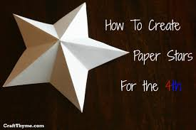 paper stars how to make 5 pointed 3 d u2022 craft thyme