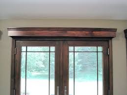 window treatments for french doors cornice boards wood trim and