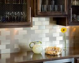 kitchen backsplash using vinyl tiles interior design
