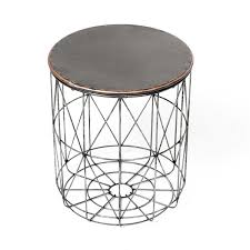 Wire Side Table Industrial Wire Side Table