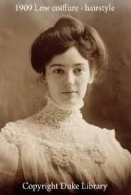 women hairstyle france 1919 edwardian an informal hairstyle how a working woman would have