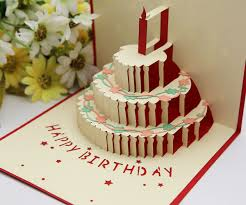 cheap birthday cakes color three dimensional greeting cards birthday cake gift diy 3d