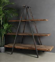 industrial tripod bookcase industrial style book shelves and tripod