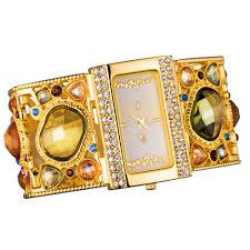 multi colored gold bracelet images Buy amazing women 39 s golden bracelet watch with jpg