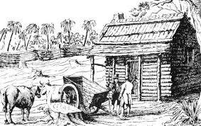 log cabin drawings florida memory drawing of pioneer s log cabin under british