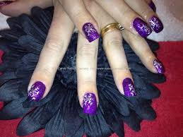 easy nail art designs 3 diy elegant silver violet purple 65 cool