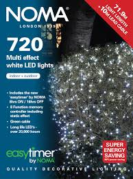 noma 720 white multi effect led lights green cable 8772gw