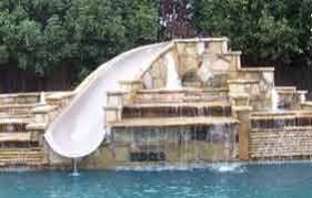 Backyard Pool With Slide - swimming pool slides u0026 accessories dealer discount sales