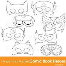 superhero mask template printable superhero diy printable black