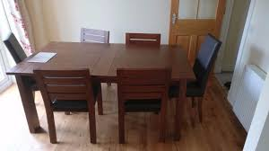 Marks And Spencer Dining Room Furniture Large Marks And Spencer Sonoma Extending Dining Table With 6