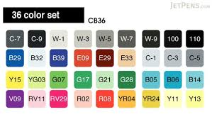 copic marker 36 basic color set jetpens com