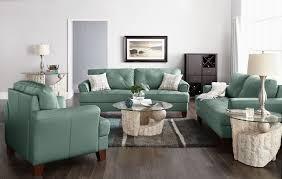 cindy crawford sofas vita 100 genuine leather sofa u2013 sea foam the brick