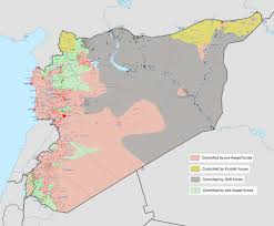 Syria On A Map by Once United Against Assad Syrians Now Split By Isis The Seattle
