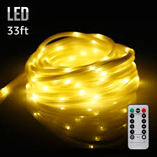 Patio String Lights White Cord by 33ft 100leds Starry String Lights Waterproof U0026 Battery Powered