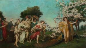 Mural Painting On Canvas by Howard Pyle Murals Delaware Art Museum