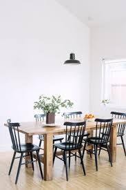 White Dining Table With Black Chairs Wood Spindle Dining Table Search Ave