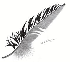 feather w tribal for my feather tattoos