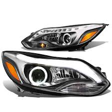 14 ford focus pair of led halo projector headlight w running