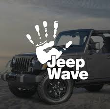 jeep decal aliexpress com buy funny jeep wave hand vinyl decal sticker car