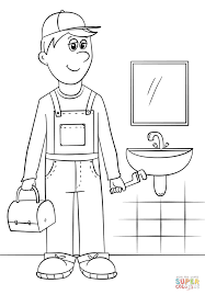 plumber coloring page free printable coloring pages