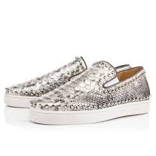 pik boat flat silver python bronte 1160182sv71 men shoes on sale