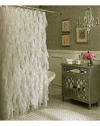Sheer Shower Curtains Spectacular Deal On Cascade Shabby Chic Ruffled Sheer Shower