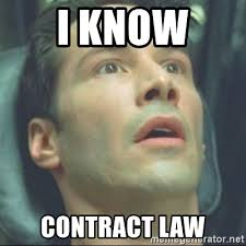 Contract Law Meme - i know contract law i know kung fu meme generator