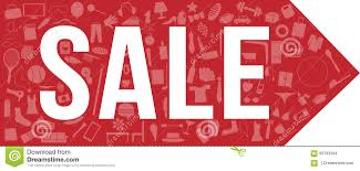 sale tag banner 3 sets all clothing furniture with a lot of